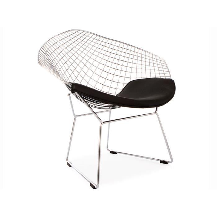 Chaise bertoia wire diamond noir achat vente chaise cadeaux de no l c - Chaise bertoia occasion ...