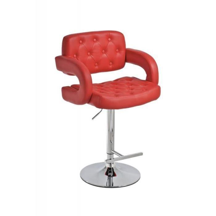 tabouret de bar capitonn rouge achat vente tabouret de bar rouge cdiscount. Black Bedroom Furniture Sets. Home Design Ideas
