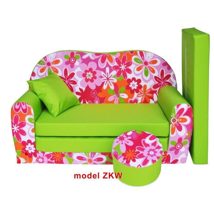 sofa enfant 2 places se transforme en un canap lit. Black Bedroom Furniture Sets. Home Design Ideas