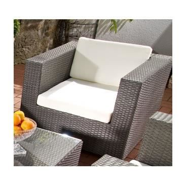 fauteuil de jardin design gionata gris achat vente fauteuil jardin fauteuil de jardin. Black Bedroom Furniture Sets. Home Design Ideas