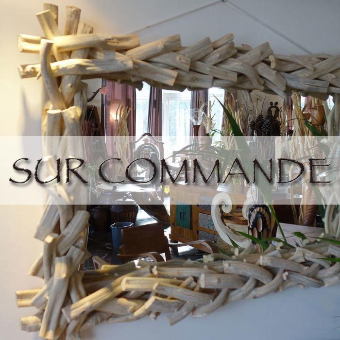 miroir lianes torsad es bois flott 70 x 110 cm achat vente miroir cdiscount. Black Bedroom Furniture Sets. Home Design Ideas