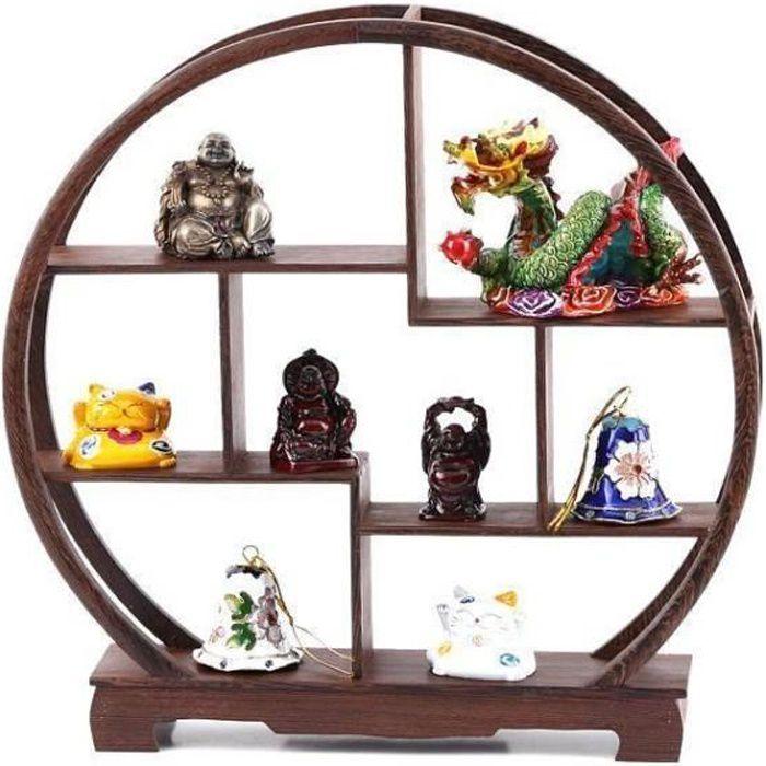 meuble chinois miniature etag re traditionnelle ronde achat vente objet d coratif cdiscount. Black Bedroom Furniture Sets. Home Design Ideas