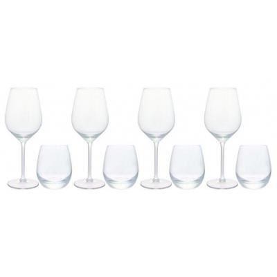 coffret 8 pi ces verre vin et verre eau achat vente verre eau soda cdiscount. Black Bedroom Furniture Sets. Home Design Ideas