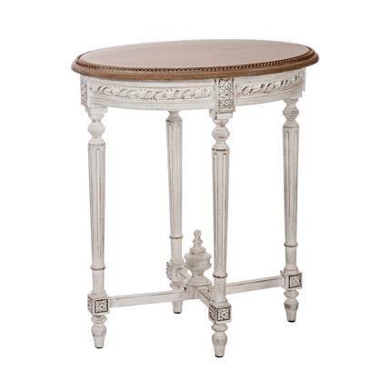 Table ovale bois 65x45x75 cm coloris marron achat for Table ovale en bois