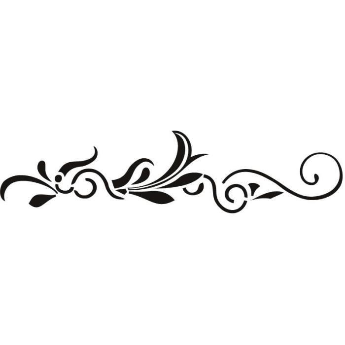 Ligne droite verticale embellissement floral wa achat vente stickers c - Design vente en ligne ...