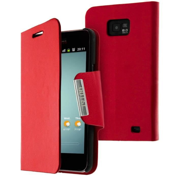 Etui de protection rouge samsung galaxy s2 i9100 achat for Housse samsung galaxy s2