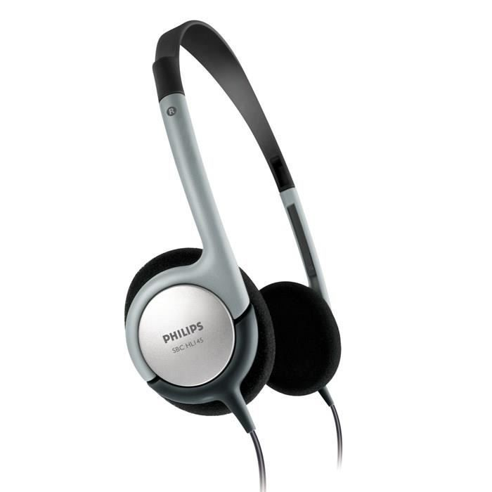philips sbchl145 casque audio ultra l ger gris prix pas cher cdiscount. Black Bedroom Furniture Sets. Home Design Ideas