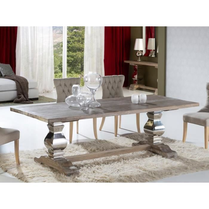 table design de salle a manger en bois ancien massif antica 240 cm deco schuller achat. Black Bedroom Furniture Sets. Home Design Ideas