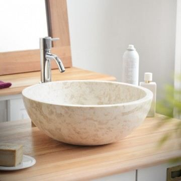 vasque marbre accessoire cream beige lavabo sal achat vente robinetterie vasque en marbre. Black Bedroom Furniture Sets. Home Design Ideas