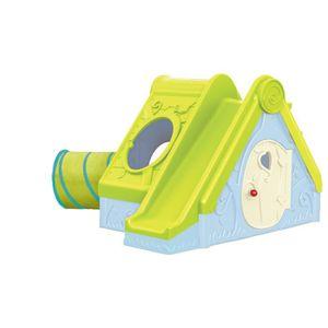 Maisonnette et aire de jeux enfant Funtivity (avec tunnel, toboggan, cachette)