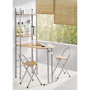 Table cuisine et 2 chaises achat vente table cuisine for Table bar pliante cuisine