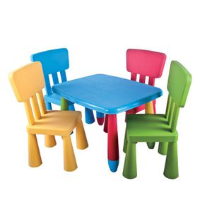 set de table et chaises enfant mamouth 5 pi ces achat vente table b b 6037656389146. Black Bedroom Furniture Sets. Home Design Ideas
