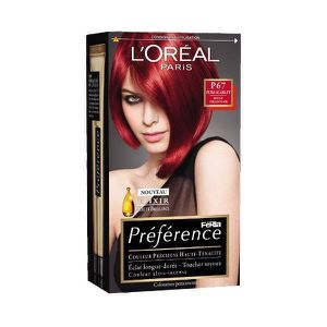 coloration coloration prfrence p67 rouge trs intense ch - Shampoing Colorant