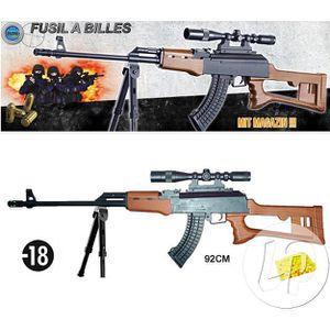 BÂTON - ÉPÉE - BAGUETTE Fusil à bille 92cm avec trépied et chargeur