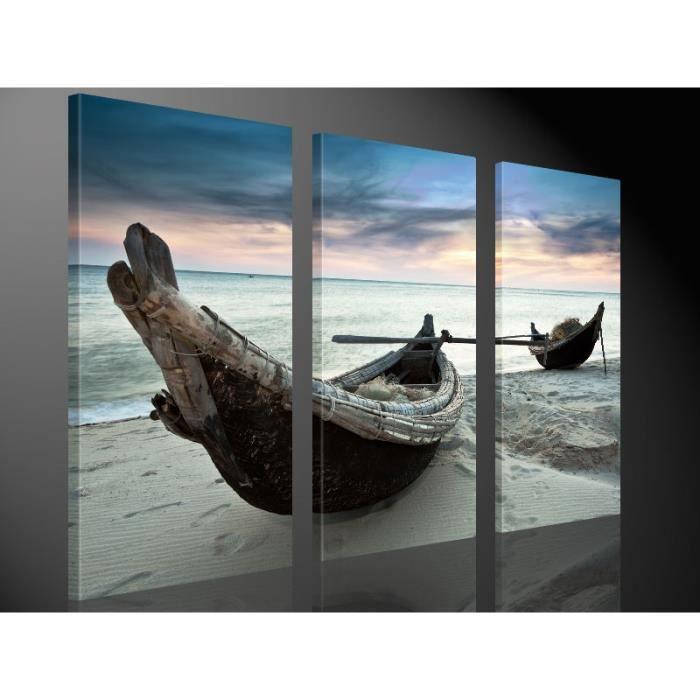 Tableau moderne imprim 130x80 pirogue achat vente - Tableau imprime sur verre ...
