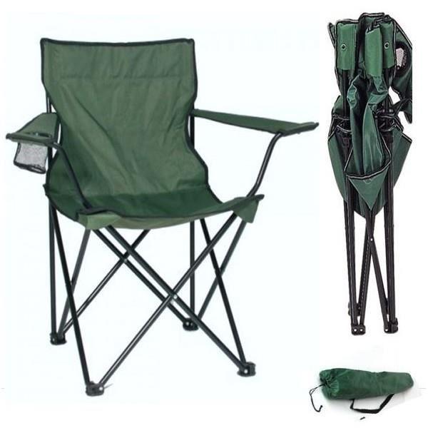 fauteuil camping pliant vert avec housse prix pas cher cdiscount. Black Bedroom Furniture Sets. Home Design Ideas