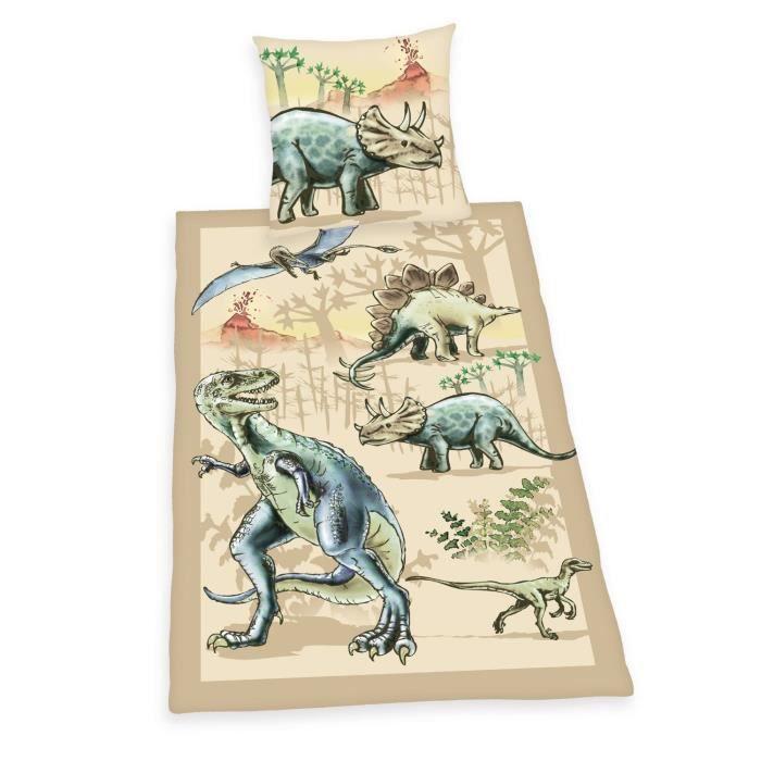 parure de lit housse de couette dinosaure rex achat vente parure de drap soldes d t. Black Bedroom Furniture Sets. Home Design Ideas