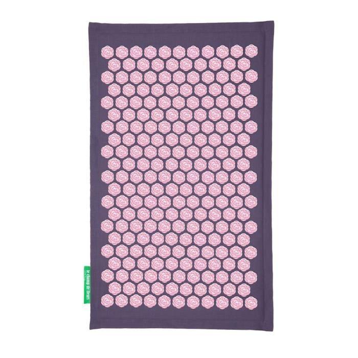 tapis de fleurs soulage les douleurs de dos mauve achat vente appareil acupuncture tapis de. Black Bedroom Furniture Sets. Home Design Ideas