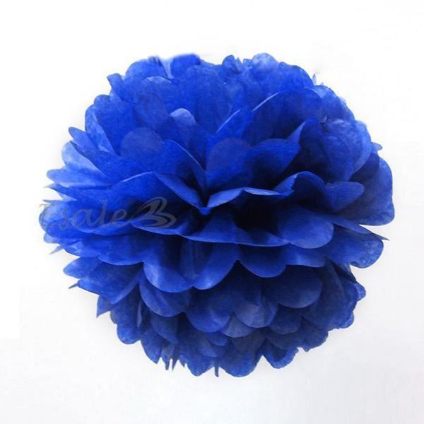 Bouquet de Fleur Artificielle Papier Bleu Foncé Déco Mariée Mariage ...