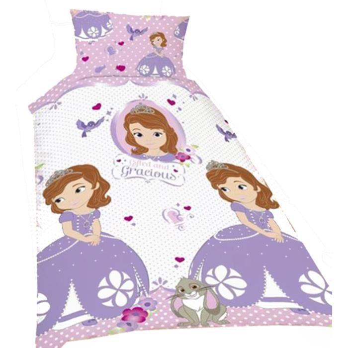 princesse sofia parure de lit une place princ achat vente parure de drap cdiscount. Black Bedroom Furniture Sets. Home Design Ideas