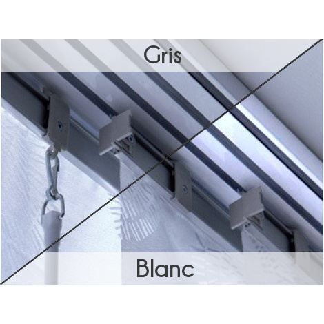 rail blanc pour panneaux japonais 220cm 4 voies achat. Black Bedroom Furniture Sets. Home Design Ideas