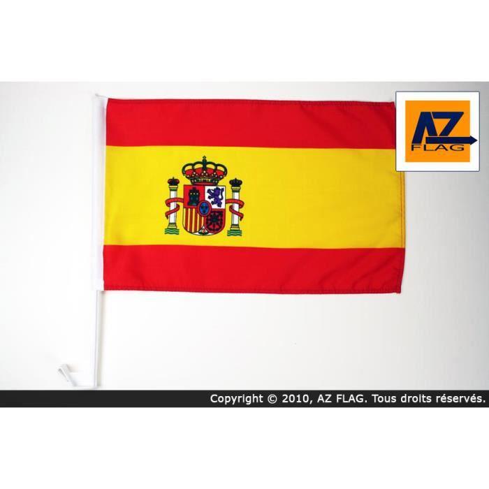 drapeau de voiture espagne 45x30cm espagnol achat vente drapeau d coratif pvc soldes d. Black Bedroom Furniture Sets. Home Design Ideas