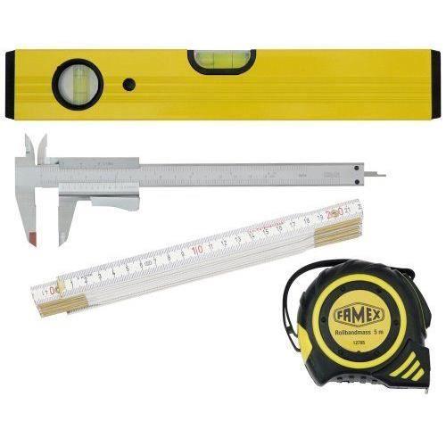 Famex 12814 ensemble de 4 instruments pour mesurer m tre - Metre pour mesurer ...
