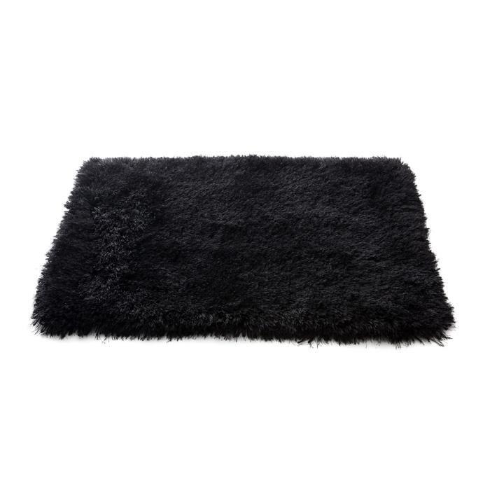 miliboo tapis shaggy descente de lit noir 60x achat vente tapis valdo tapis 60x90 cdiscount. Black Bedroom Furniture Sets. Home Design Ideas