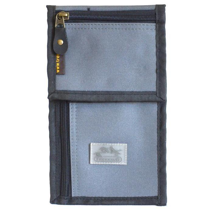 pochette tour de cou format billets d 39 avion marron gris achat vente tour de cou voyage. Black Bedroom Furniture Sets. Home Design Ideas