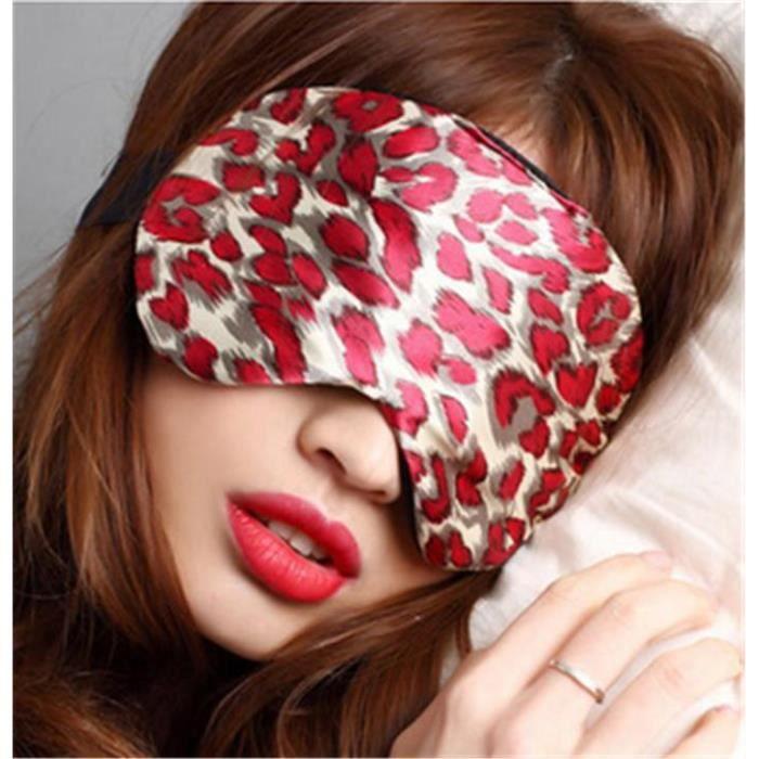 masque de nuit sommeil en soie fantaisie rouge achat. Black Bedroom Furniture Sets. Home Design Ideas