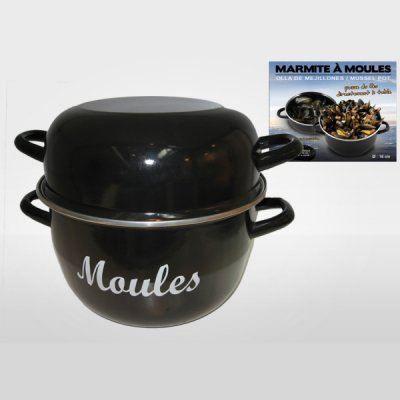 marmite moules individuelle mail noir 20 cm achat. Black Bedroom Furniture Sets. Home Design Ideas