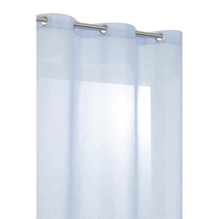 rideau voilage effe lin hauteur 240 cm bleu nordique achat vente rideau cdiscount. Black Bedroom Furniture Sets. Home Design Ideas