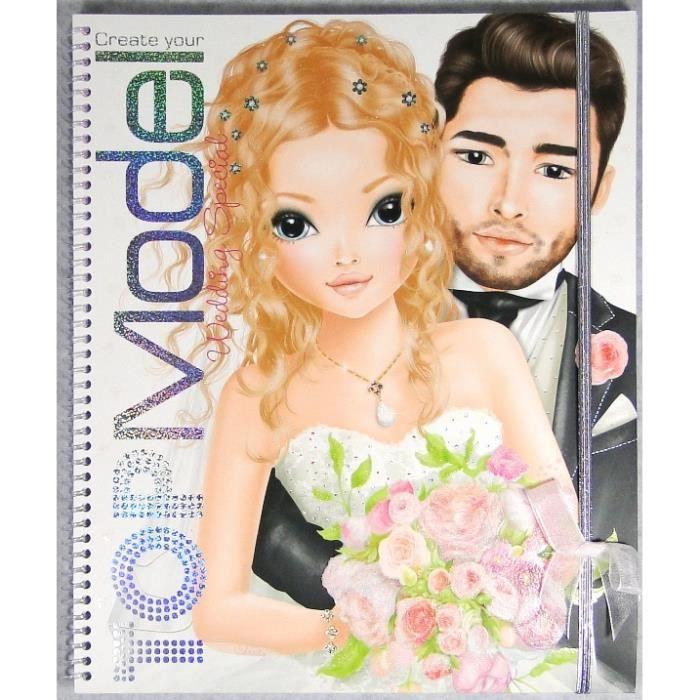 Album coloriage topmodel wedding mariage achat vente - Dessin top model ...