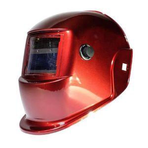 AWELCO Cagoule de soudure LCD rouge ? teinte variable 9/13 - adaptée au soudage MAG MIG MMA PLASMA et TIG