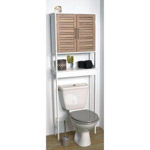 COLONNE - ARMOIRE WC MEUBLE DESSUS WC + 1 TABLETTE