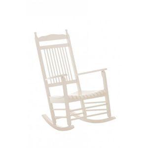 fauteuil bascule blanc achat vente fauteuil bascule blanc pas cher cdiscount. Black Bedroom Furniture Sets. Home Design Ideas