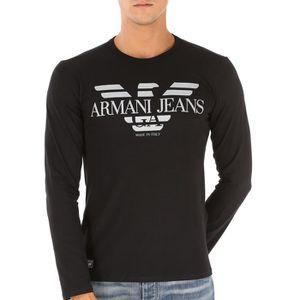 8b7357a0b1d Un rétro pour le t shirt manche longue armani soldes Rose ...