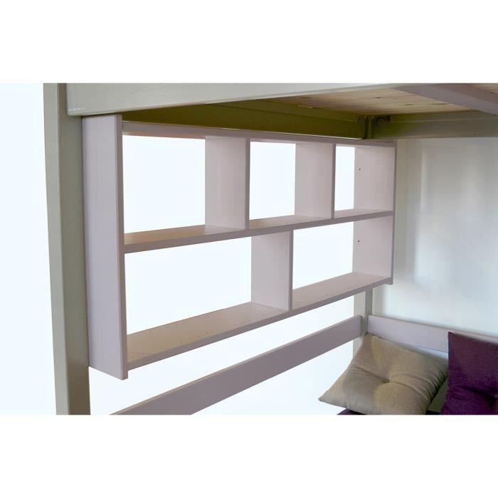 Tag re murale teint violet pastel longueur 200 achat vente etag re - Cdiscount etagere murale ...