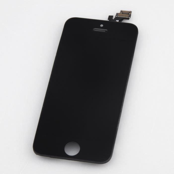 ecran lcd tactile pour apple iphone 5 noir achat ecran. Black Bedroom Furniture Sets. Home Design Ideas