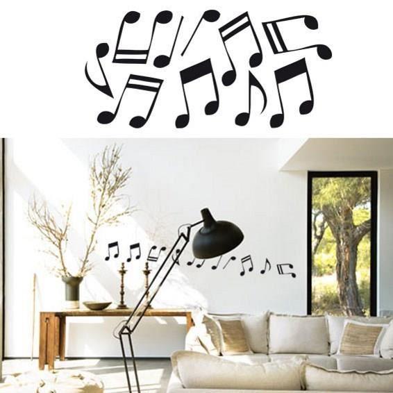 Sticker mural notes de musique sticker argile achat for Decoration murale note de musique