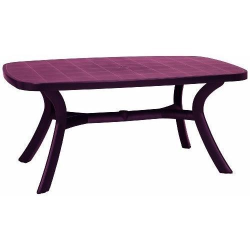 Best 18519240 kansas table ovale bordeaux 192 x achat vente table de jardin best 18519240 - Table jardin bricorama bordeaux ...