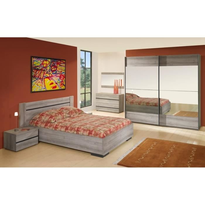Chambre adulte compl te louise 160 x 200 cm achat for Achat chambre adulte complete