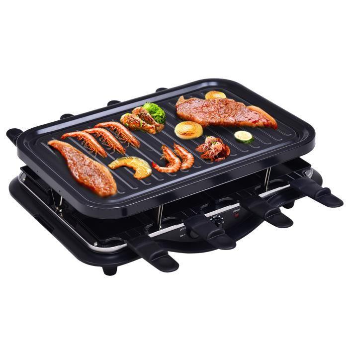 gril barbecue de table bbq gril lectrique carr health pour 8 personnes 1200w achat vente. Black Bedroom Furniture Sets. Home Design Ideas