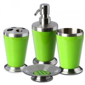Set de 4 accessoires pour salle de bain inox achat for Accessoires pour salle de bain