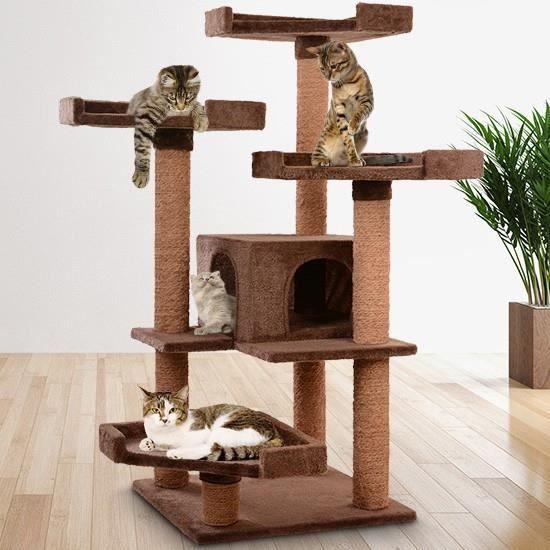 arbre chat griffoir stable spacieux hauteur 113 cm achat vente arbre chat arbre chat. Black Bedroom Furniture Sets. Home Design Ideas