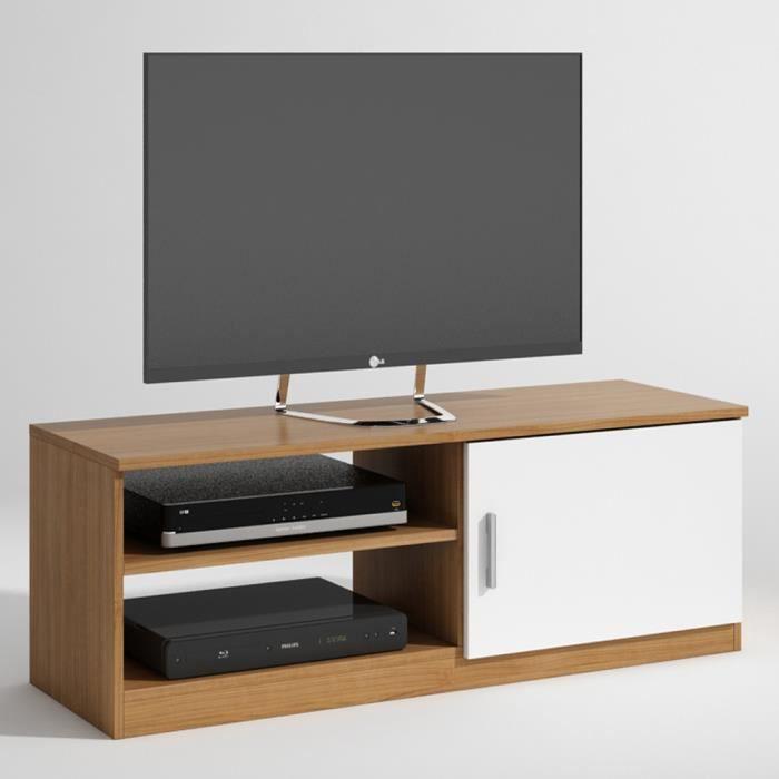 Meuble tv emily avec 1 porte et 1 tiroir color achat - Meuble tv avec tiroir ...