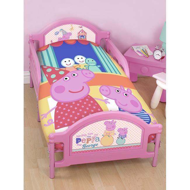 peppa pig parure de lit junior achat vente housse de. Black Bedroom Furniture Sets. Home Design Ideas