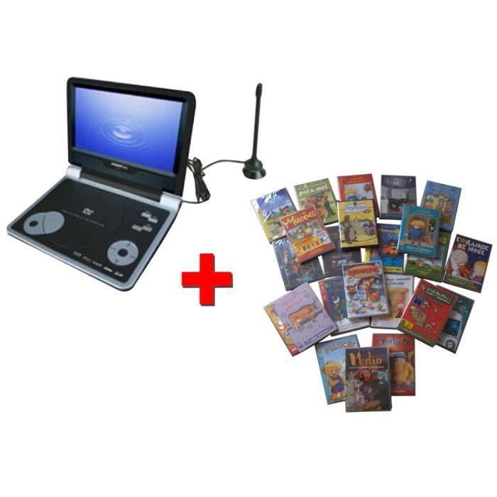 pack lecteur dvd portable tv avec d codeur tnt 30 films dvd juniors sigmatek pdx 3900. Black Bedroom Furniture Sets. Home Design Ideas