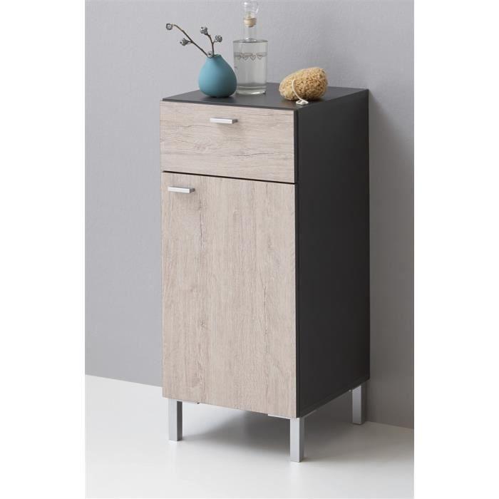 Meuble de salle de bains n pal gris ch ne achat vente for Ou acheter meuble salle de bain