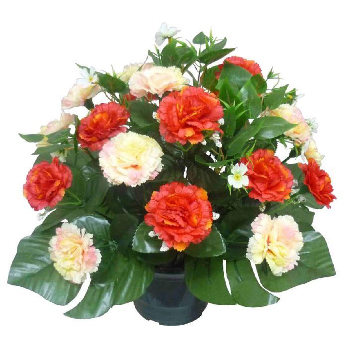 Fleurs artificieles en pot cimetiere achat vente for Fleurs vente